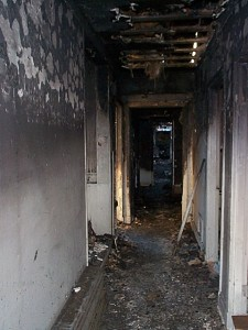 Fire Damaged Hallway